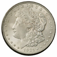 1921 S $1 MORGAN 90 SILVER DOLLAR GEM BU BRILLIANT UNCIRCULATED