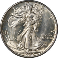 1937-D WALKING LIBERTY HALF PCGS MINT STATE 66 SUPERB EYE APPEAL STRONG STRIKE