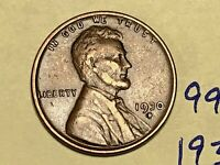 1930-D 1C BN LINCOLN CENT 9911W WHEAT CENT