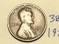 1927 D LINCOLN CENT WHEAT CENT 3880K