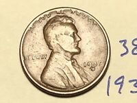 1935-D 1C BN LINCOLN CENT WHEAT CENT 3891K