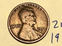 1917 D LINCOLN WHEAT CENT PENNY 2145K
