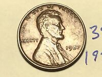 1937 1C LINCOLN CENT WHEAT CENT 3881K