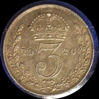 4 GREAT BRITAIN THREEPENCE COINS 1920 1933 1936 1937 ALL  SILVER