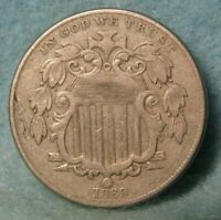 1869 SHIELD NICKEL BETTER GRADE   UNITED STATES COIN