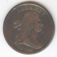 1804 DRAPED BUST HALF CENT   NO RESERVE