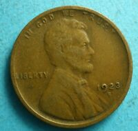 1923-S   LINCOLN CENT   VG  SHIPS FREE