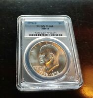 1976 S $1 PCGS MS68 SILVER BUSINESS STRIKE EISENHOWER SILVER