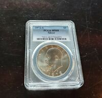 1972 S $1 PCGS MS68 SILVER BUSINESS STRIKE EISENHOWER SILVER