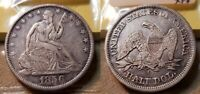 1856 O SEATED LIBERTY HALF DOLLAR 50C  FROM 1960 COLLECTION