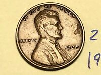 1935 1C BN LINCOLN CENT WHEAT CENT 2425K