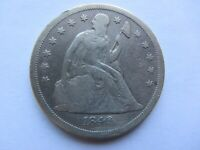 1846-O SEATED LIBERTY SILVER DOLLAR FINE DETAIL   PLUGGED