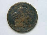 1807 DRAPED BUST HALF CENT BOLD DATE SHOWING VG   WOW