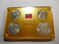 M2 TAIWAN 1966 SILVER 4 COIN SUN YAT SEN COMMEMORATIVE IN OR