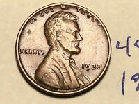 1937 1C LINCOLN CENT WHEAT CENT 4585K