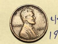1925 1C BN LINCOLN CENT WHEAT CENT 4578K
