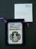 QUEEN'S BEASTS BLACK BULL OF CLARENCE 2018 ONE OUNCE SILVER PROOF COIN - NGC GEM