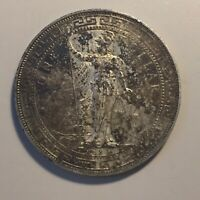 1897 B CHINA HONG KONG G.B SILVER TRADE DOLLAR COIN $1