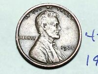 1925 1C BN LINCOLN CENT WHEAT CENT 4559K