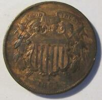 1864 U.S. TWO CENT PIECE   BETTER GRADE   THEY ARE NOT MAKIN