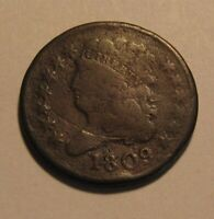 1809 CLASSIC HEAD HALF CENT PENNY   CIRCULATED CONDITION   4
