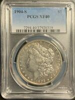 1904 S MORGAN SILVER DOLLAR $1 KEY DATE PCGS EXTRA FINE 40 EXTRA FINE LOOKS R