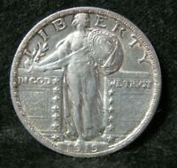1919 STANDING LIBERTY SILVER QUARTER HIGH GRADE   UNITED STA