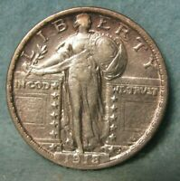 1918 S STANDING LIBERTY SILVER QUARTER BETTER GRADE   UNITED