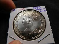 T119 GREAT BRITAIN 1883 GOTHIC FLORIN CLEANED