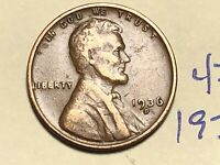1936-D LINCOLN WHEAT CENT PENNY 4759K