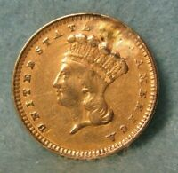 1861 INDIAN PRINCESS $1 ONE DOLLAR UNITED STATES GOLD COIN B