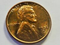 UNC  1936 D LINCOLN WHEAT CENT   FROM OLD COIN ALBUM  OBV SPOTSBROW36D