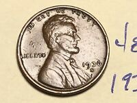 1936 S 1C LINCOLN WHEAT CENT CENT 4857K