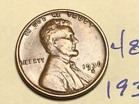 1936 S 1C LINCOLN WHEAT CENT CENT 4855K