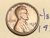 1936 S 1C LINCOLN WHEAT CENT CENT 4850K