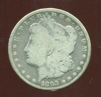 1893 P MORGAN SILVER DOLLAR $1 KEY DATE LOW MINTAGE