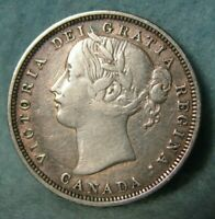 1858 CANADA 20C TWENTY CENTS BETTER GRADE   CANADIAN COIN