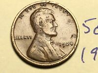 1924 1C BN LINCOLN CENT WHEAT CENT 5082K