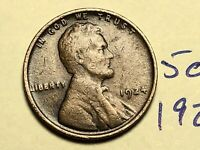 1924 1C BN LINCOLN CENT WHEAT CENT 5024K