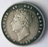 1825 GREAT BRITAIN SHILLING   HIGH QUALITY   BIG VALUE SILVE
