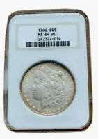 1896 S$1 MINT STATE 64 PL NGC