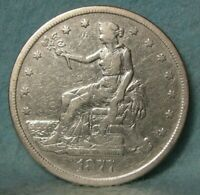 1877 S TRADE DOLLAR BETTER GRADE UNITED STATES SILVER COIN