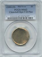 2000 15  $1 SAC/PRES. CLAMSHELL SPLIT T 2  PCGS MS 62