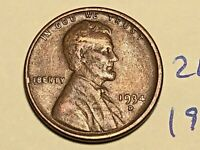 1934-D 1C BN LINCOLN CENT WHEAT CENT 2615K