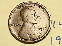 1914 1C BN LINCOLN CENT WHEAT CENT 1421K