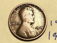 1914 1C BN LINCOLN CENT WHEAT CENT 1423K