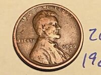 1920-S 1C BN LINCOLN CENT WHEAT CENT 2616K