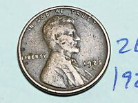 1925-S 1C BN LINCOLN CENT WHEAT CENT 2659K