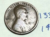 1914 1C BN LINCOLN CENT  WHEAT CENT 1338K