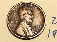 1920-S 1C BN LINCOLN CENT WHEAT CENT 2665K